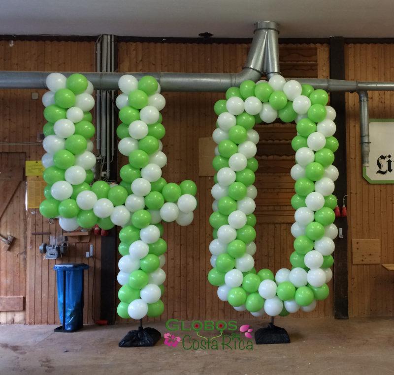 Ballon Zahl 40 zum Firmenjubiläum in Rohrmoser Costa Rica.