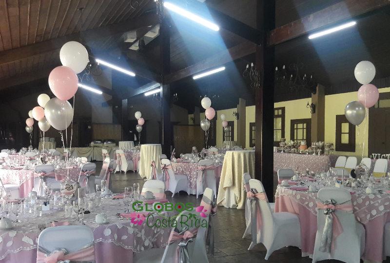 Ballon Bouquets für eine Mädchen Baby Shower Party in Rohrmoser Costa Rica.