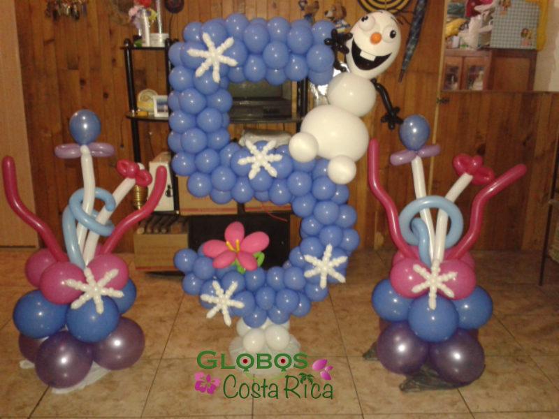 Número de Mesa 5 Tema Frozen para Fiesta de Cumpleaños en Escazú.