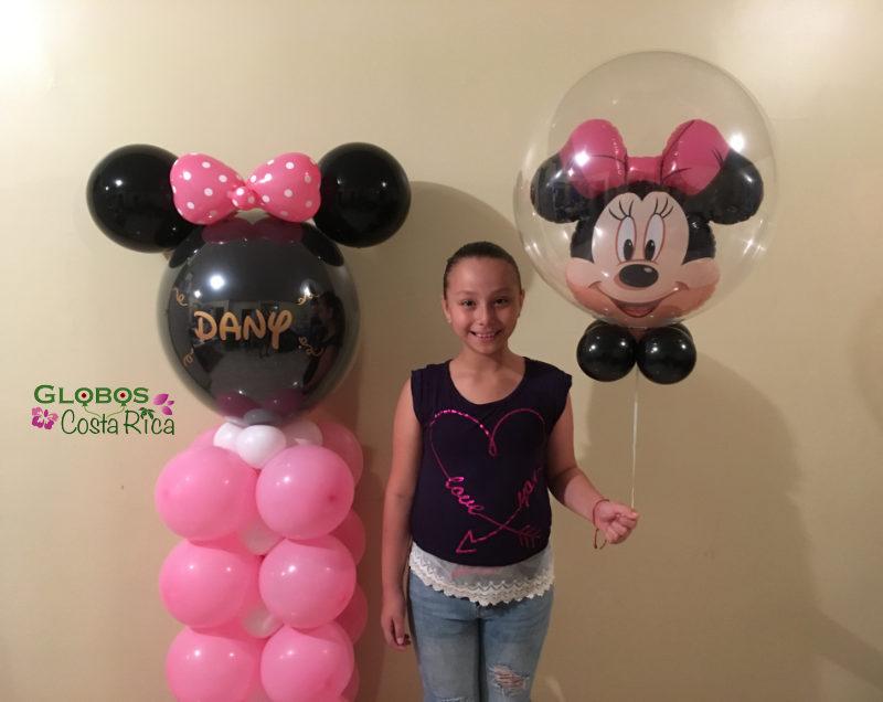 Decoración con globos para cumpleaños temático de niña!
